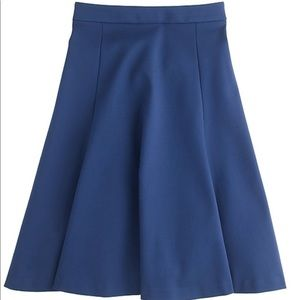 J. Crew Structured A-line Blue Skirt Sz 8